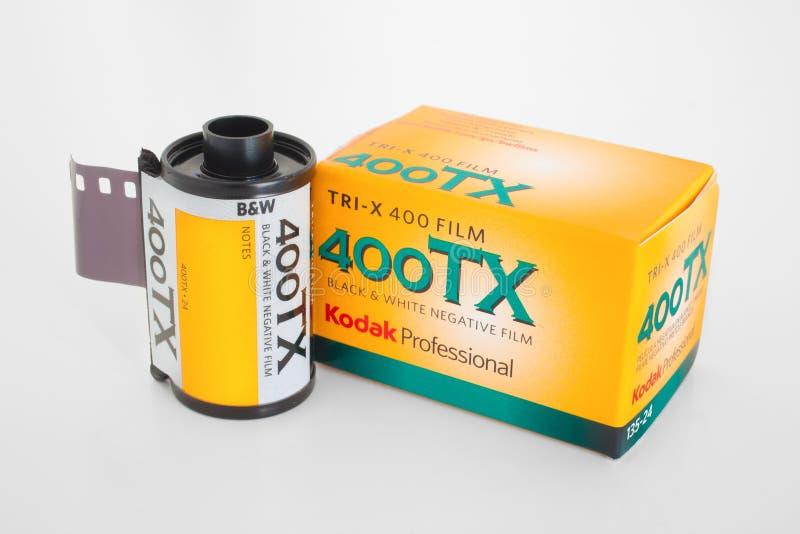 De Film van Kodak 400TX stock afbeeldingen
