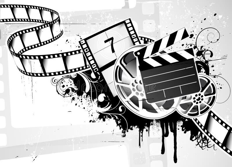 De filmAchtergrond van de film stock illustratie