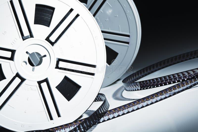 De filmachtergrond van de film stock foto