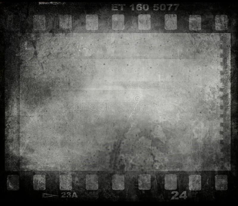De filmachtergrond van Grunge stock illustratie