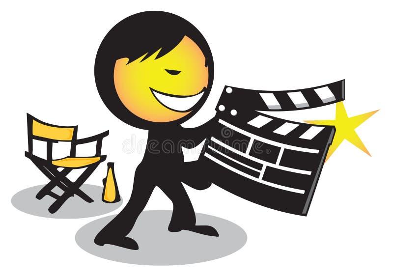De filmdakspaan van de directeur stock foto's