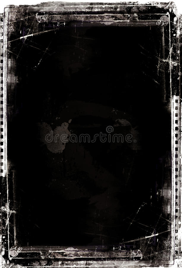De filmframe van Grunge stock illustratie