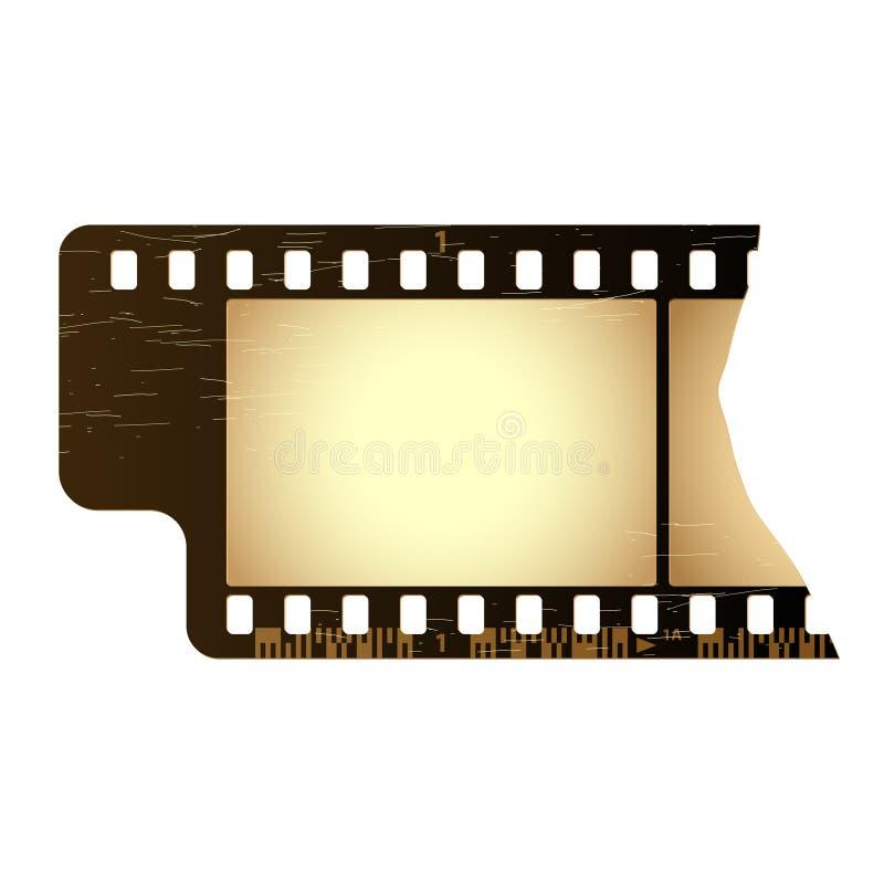 De filmframe van Grunge. Vector. royalty-vrije illustratie
