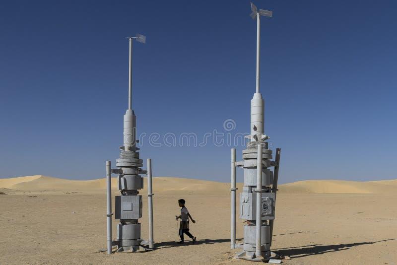 De filmreeks van Star Wars, Tunesië stock afbeeldingen