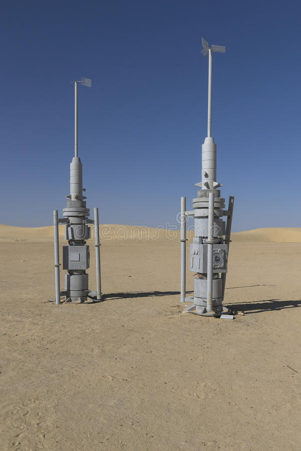 De filmreeks van Star Wars, Tunesië stock foto's