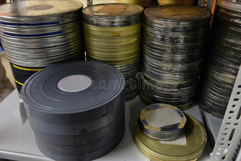 De films werden opgeslagen royalty-vrije stock afbeeldingen
