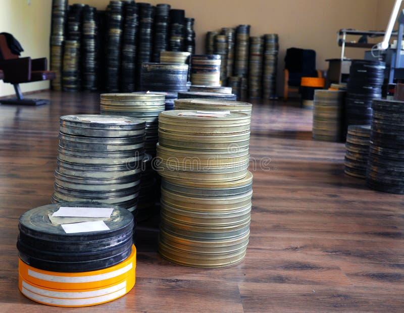 De films werden opgeslagen royalty-vrije stock fotografie