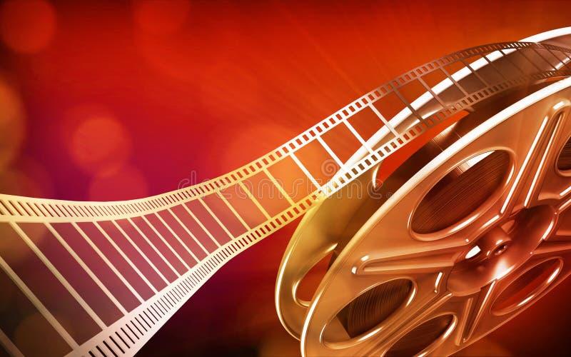 De filmspoel van de bioskoop vector illustratie
