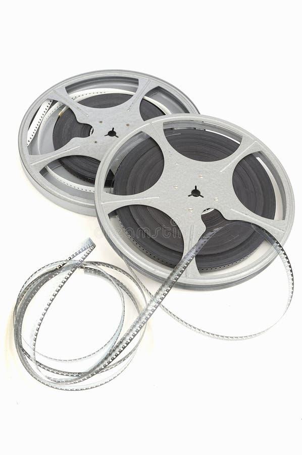 De filmspoel van de film stock afbeeldingen