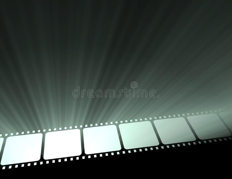 De Filmstrip van de film met licht stock illustratie