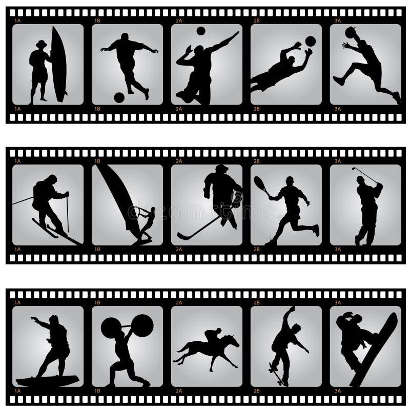 De filmstrip van de sport vector illustratie
