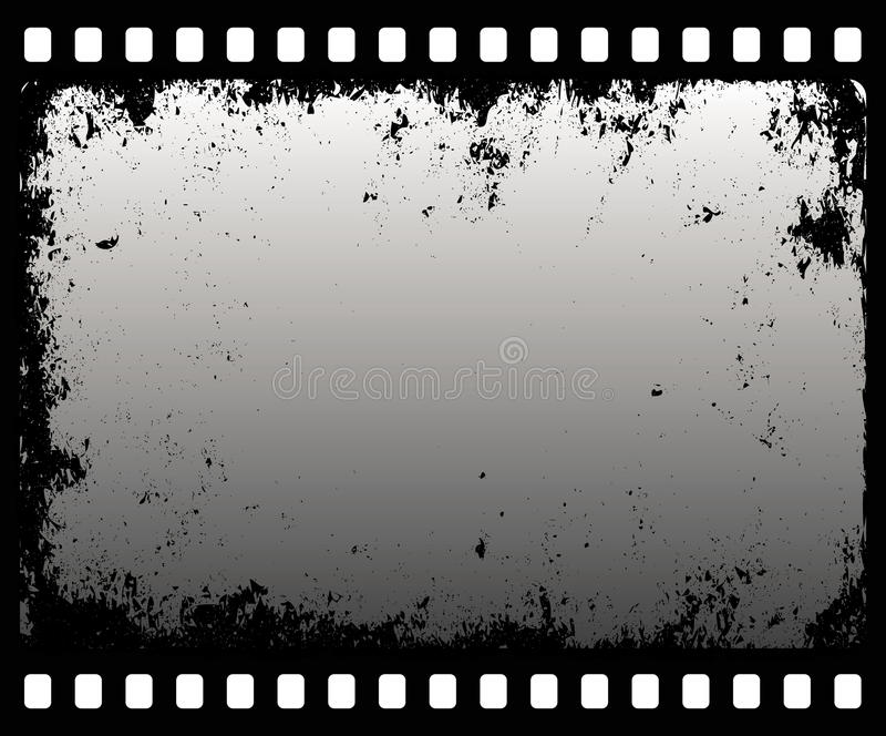De filmstrip van Grunge stock illustratie