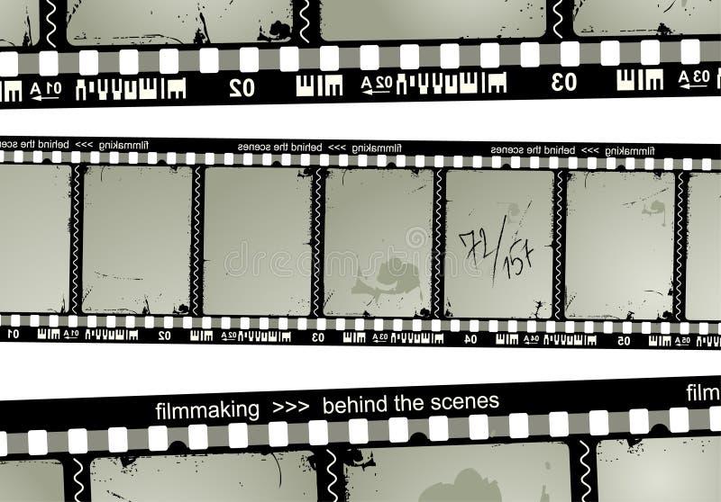 Download De filmstrip van Grunge vector illustratie. Afbeelding bestaande uit oscar - 849147