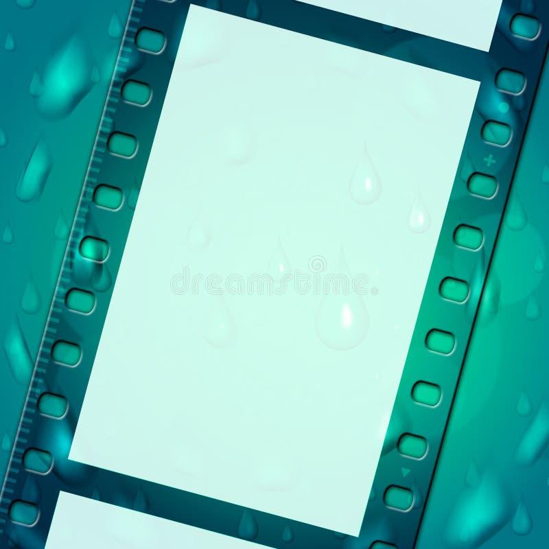 De filmstripachtergrond vertegenwoordigt Lege Ruimte en Samenvatting vector illustratie