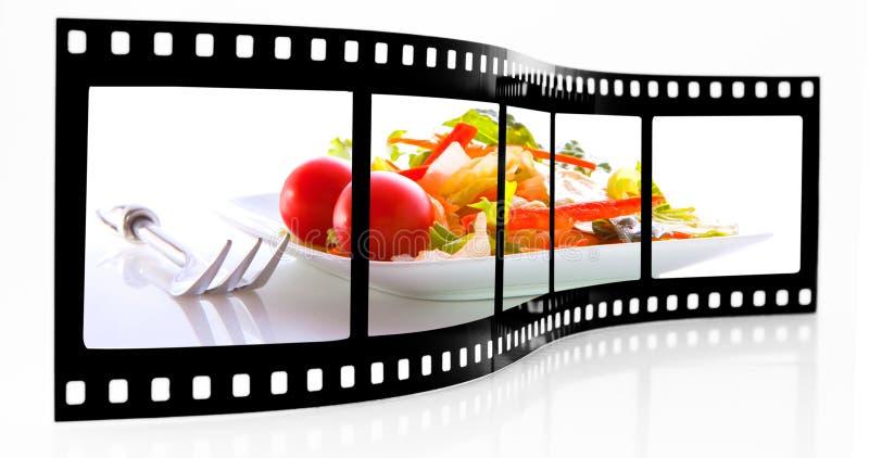 De filmstrook van de salade stock foto