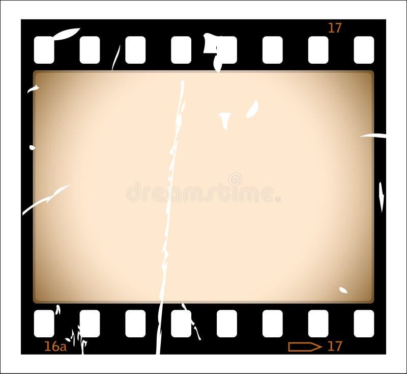 De filmstrook van Grunge stock illustratie