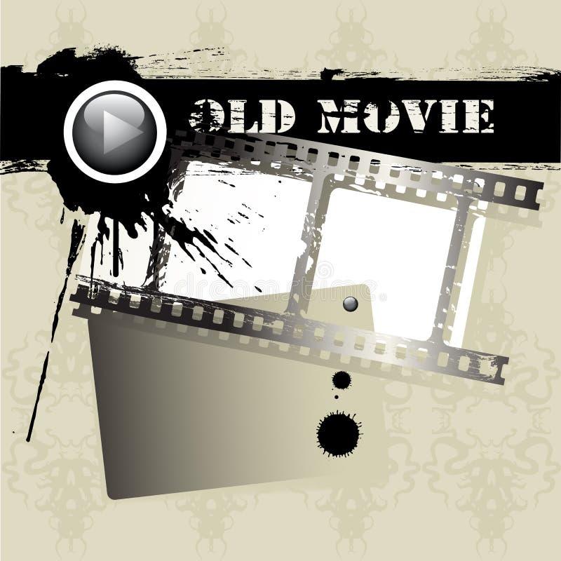 De filmstrook van Grunge vector illustratie