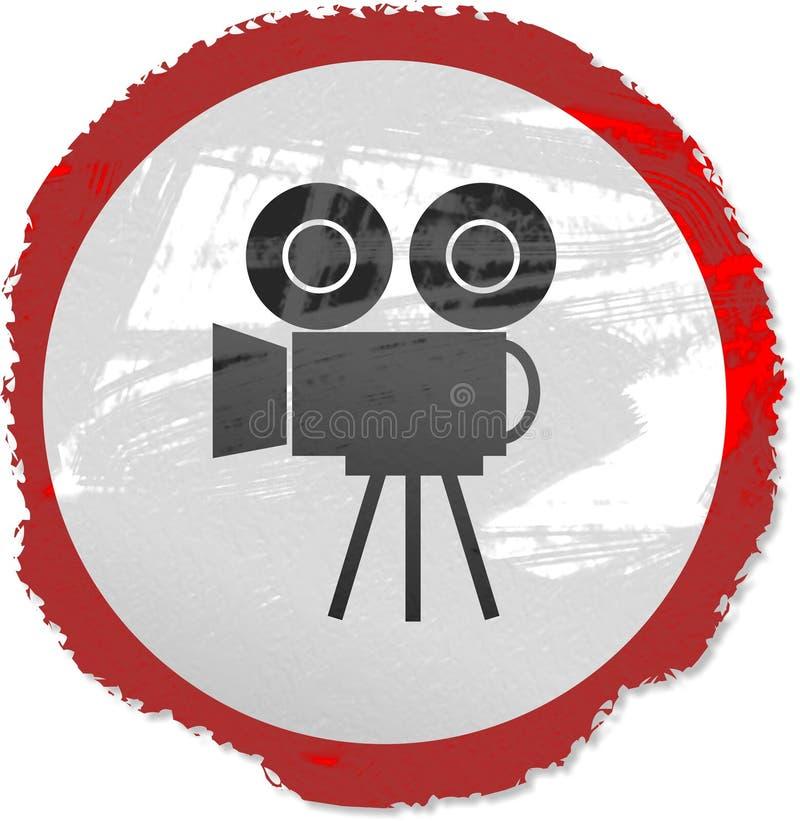 De filmteken van Grunge royalty-vrije illustratie
