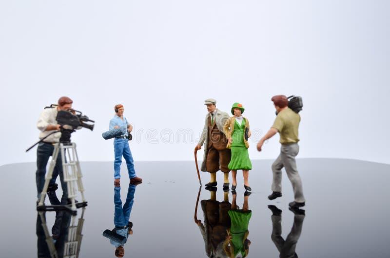 de filmteller van stuk speelgoed cijfer stock foto