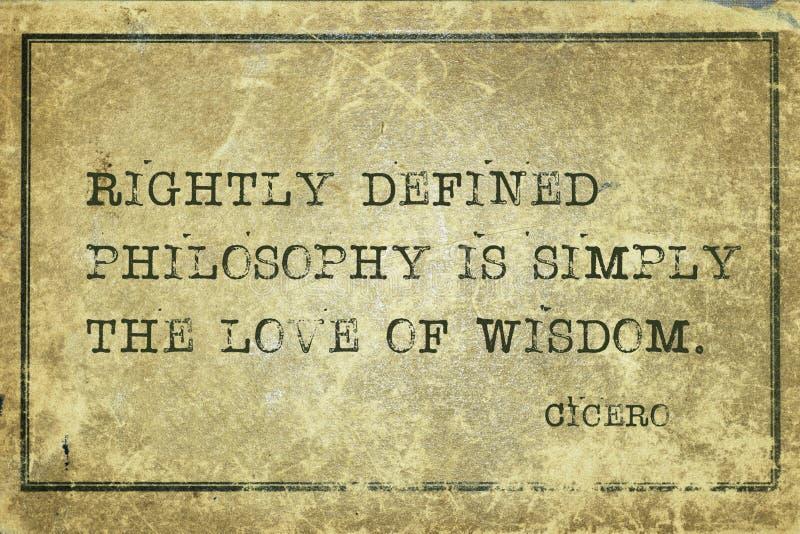 De filosofie is Cicero'n stock afbeelding