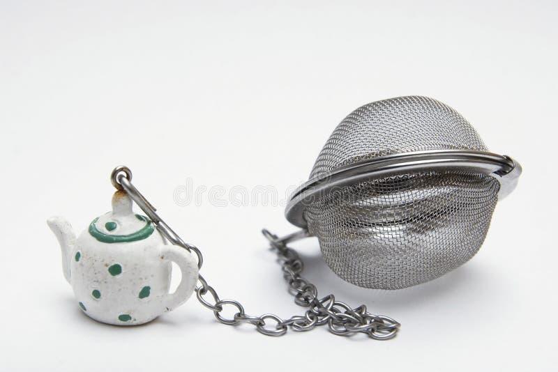 De filter van de thee stock afbeeldingen