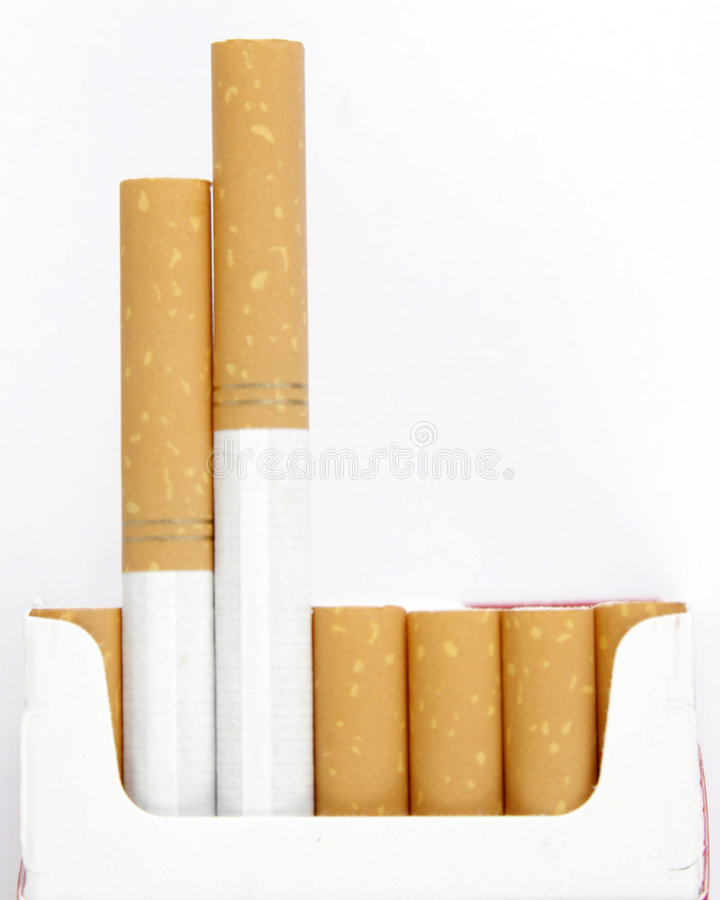 De filter van het het roken van sigarettenpak stock afbeeldingen
