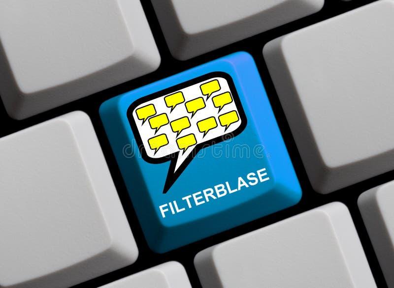 De filtre de bulle Allemand en ligne image libre de droits
