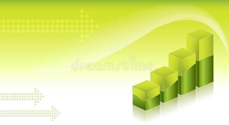 De financiële achtergrond van Grafieken vector illustratie