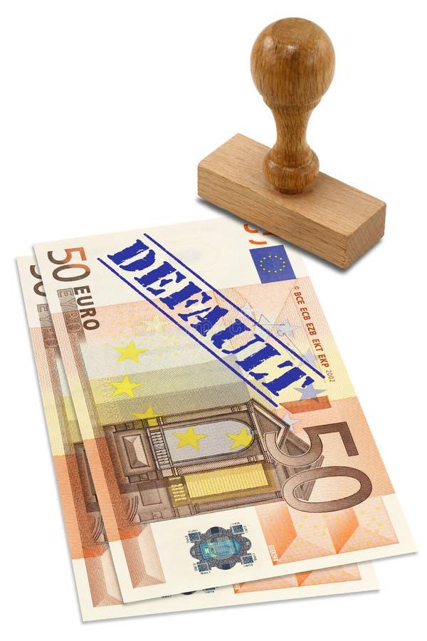 De financiële crisis van Eurozone stock afbeelding
