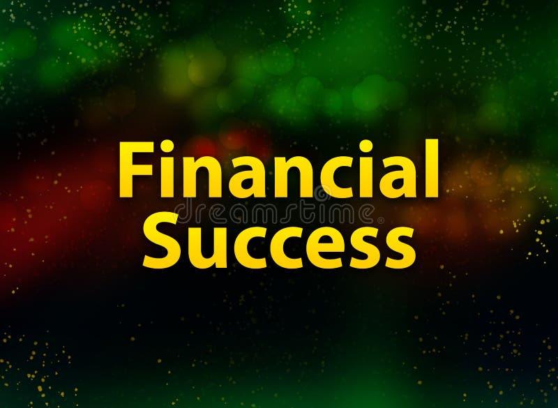 De financiële donkere achtergrond van Succes abstracte bokeh stock fotografie