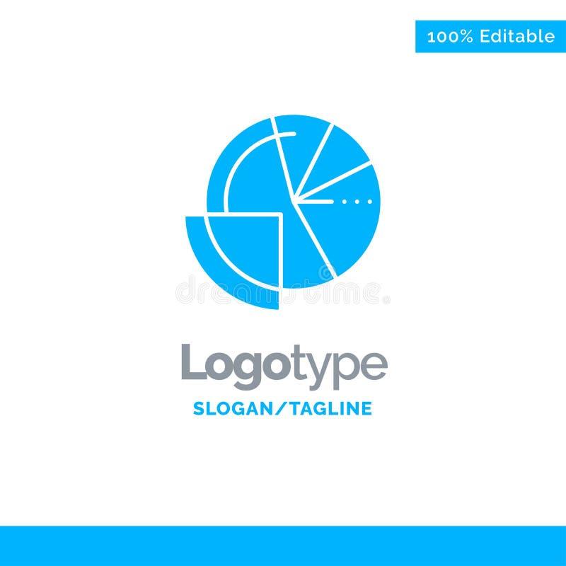 De financiële Gegevens, Analyse, Analytics, Gegevens, financieren Blauw Stevig Logo Template Plaats voor Tagline stock illustratie