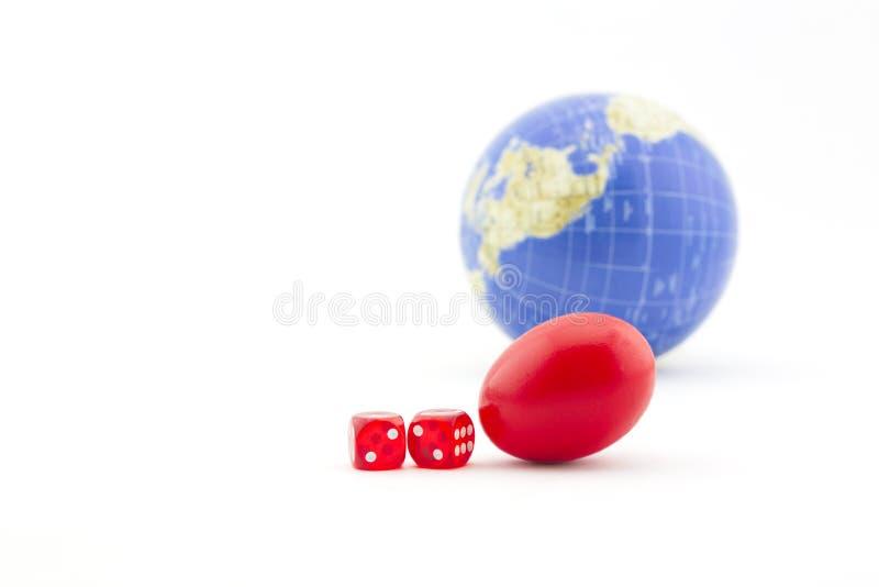 De financiële gok op een wereldmarkt kan ontbreken stock afbeelding