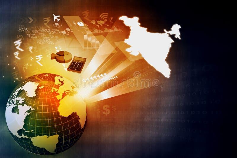 De financiële groei van Indische economie royalty-vrije illustratie