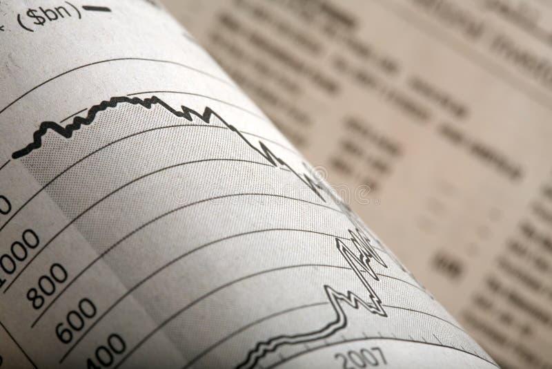 De Financiële Pagina's van de krant stock fotografie