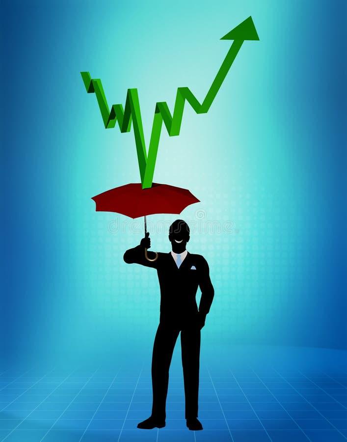 De financiële Paraplu van de Bescherming royalty-vrije illustratie