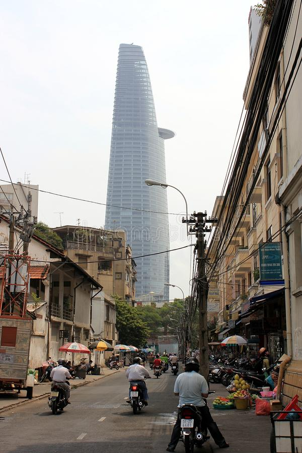 De Financiële Toren van Bitexco, Ho-Chi-Minh-Stad, Vietnam stock afbeelding