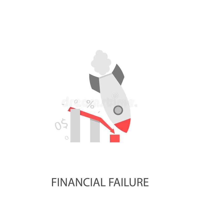 De financiële Vector van het mislukkingspictogram royalty-vrije illustratie