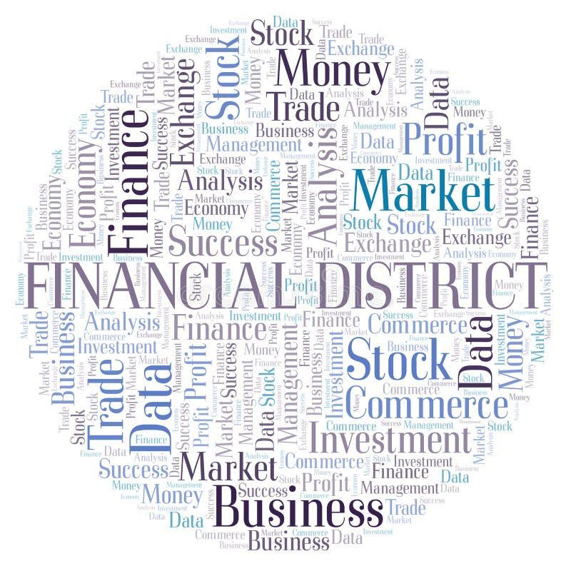 De financiële wolk van het Districtswoord vector illustratie