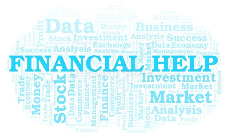 De financiële wolk van het Hulpwoord royalty-vrije illustratie