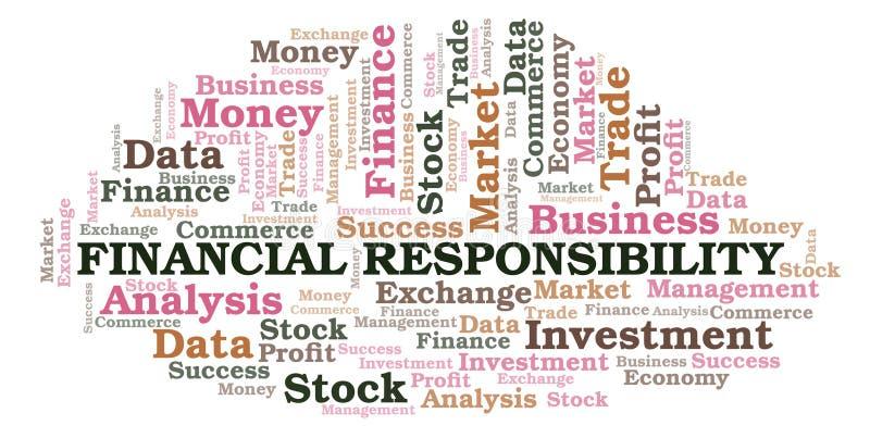 De financiële wolk van het Verantwoordelijkheidswoord vector illustratie