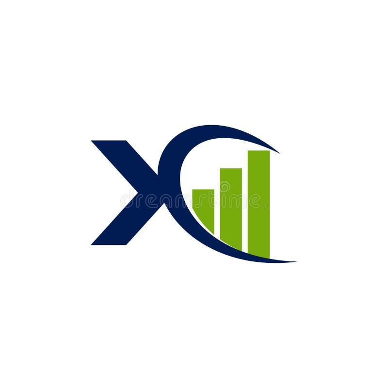 De Financiële Zaken Logo Design Template Vector van de boekhoudingsbelasting stock illustratie