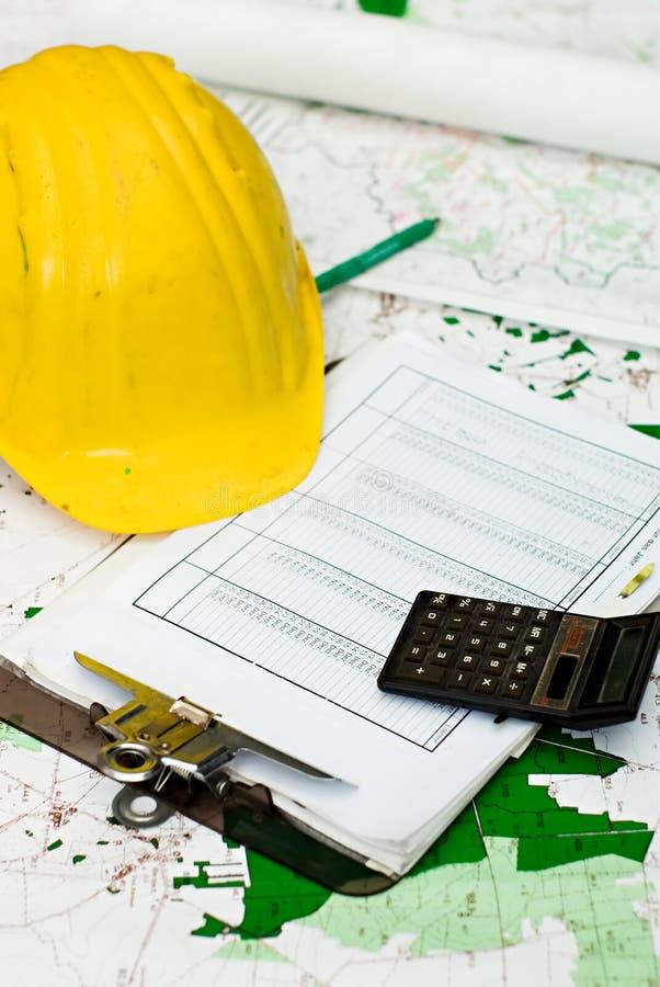 De financiën van de bouw stock foto
