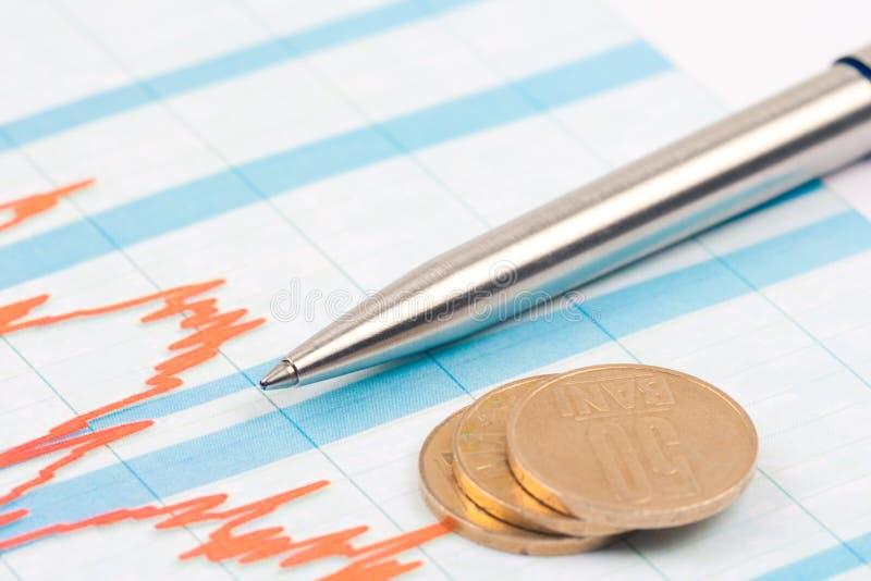 De financiën van de grafiek royalty-vrije stock afbeelding