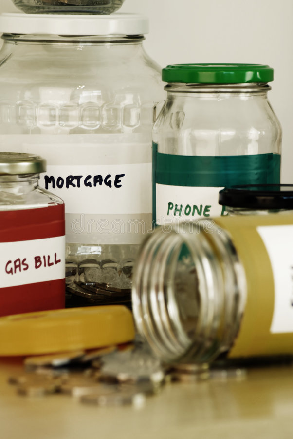 De Financiën van het huis stock foto