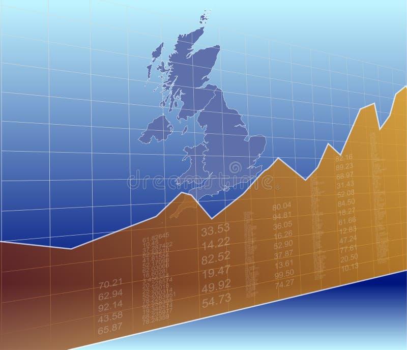 De Financiën van het Verenigd Koninkrijk en de Markt, het Stijgen, Succes stock illustratie