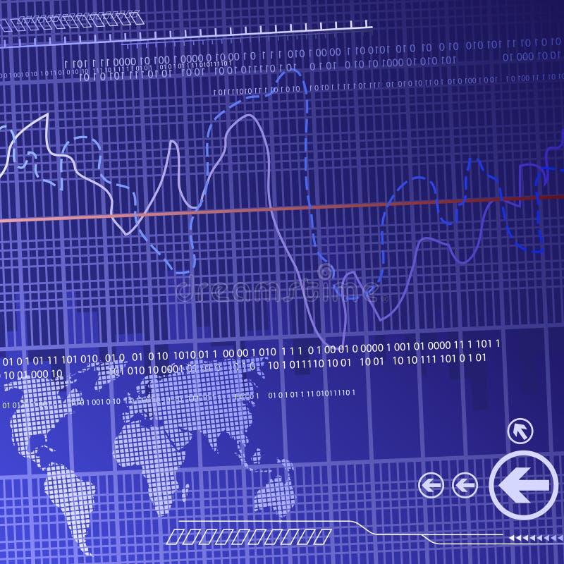 De financiënachtergrond van Didital vector illustratie