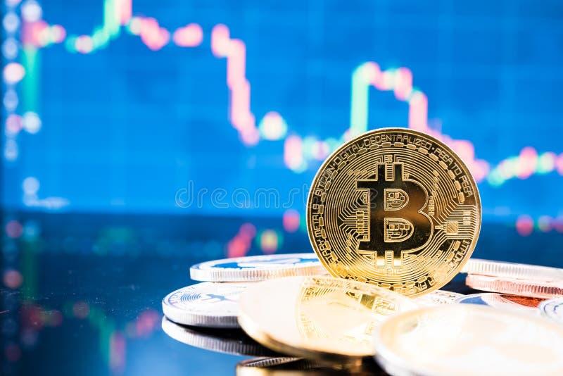 De financiëngeld van de bedrijfs blockchain B bitcoin muntstukmunt royalty-vrije stock foto