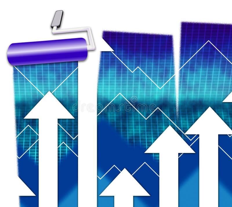 De financiëngrafiek wijst Boekhoudings op Voorspelling en Cijfers stock illustratie