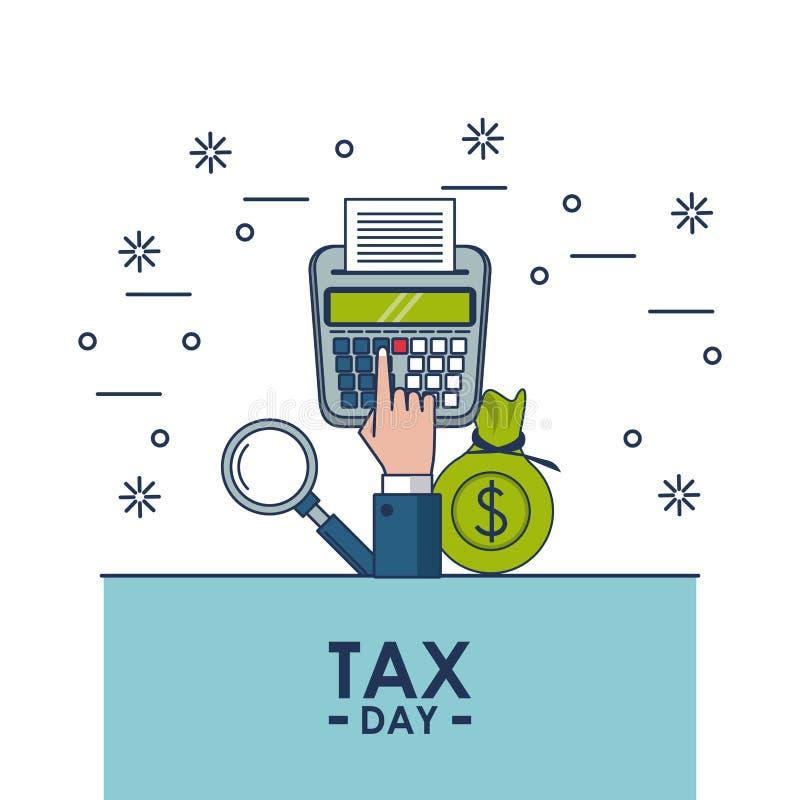 De financiënkaart van de belastingsdag royalty-vrije illustratie