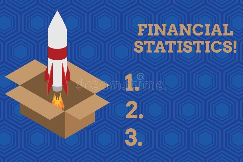 De Financi?le Statistieken van de handschrifttekst Concept die Uitvoerige Reeks van Voorraad en Stroomgegevens van een bedrijfbra vector illustratie